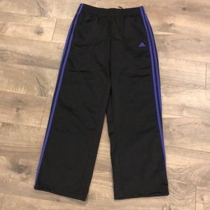 Adidas Pants Size Small Black Purple